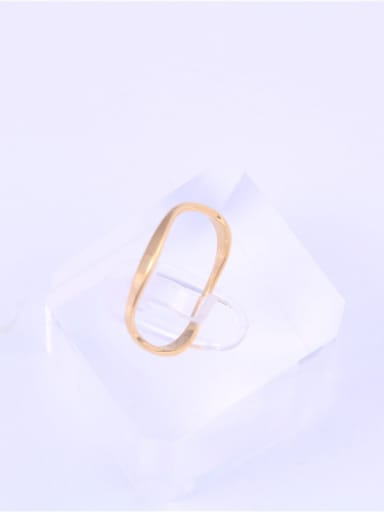 Titanium With Gold Plated Simplistic Round Band Rings