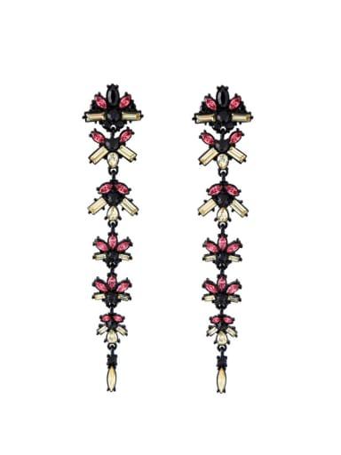 Retro Flower shaped Personality Long Drop Earrings