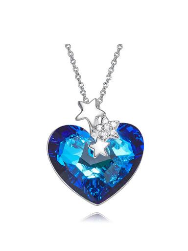Fashion Heart Swarovski Crystal Little Stars Copper Necklace