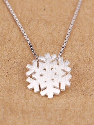 Simple Snowflake Necklace