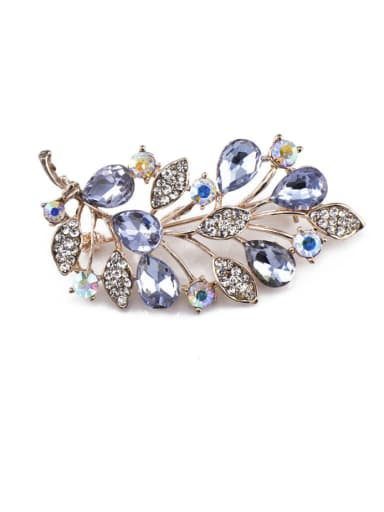 Rose Gold Plate Crystals Brooch