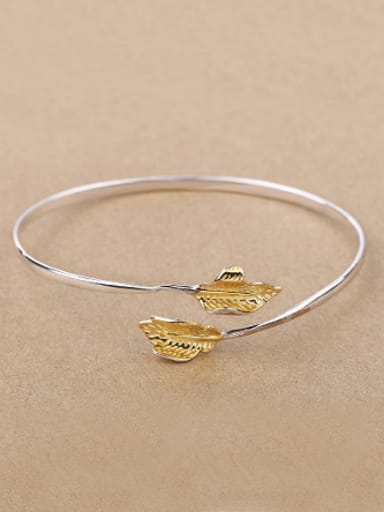Simple Autumn Leaves Opening bangle
