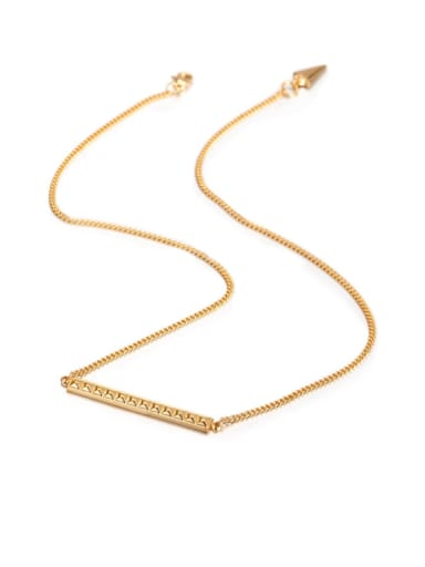 Titanium Gold Personality  Diamond Long Necklace