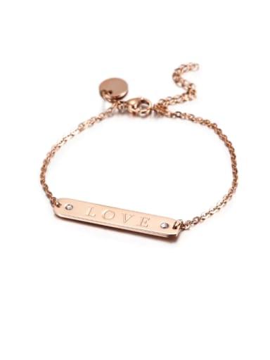 Fashion Titanium Stainless Steel Couple  Bracelet