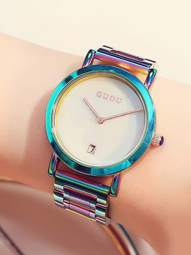 GUOU Brand Simple Colorful Watch