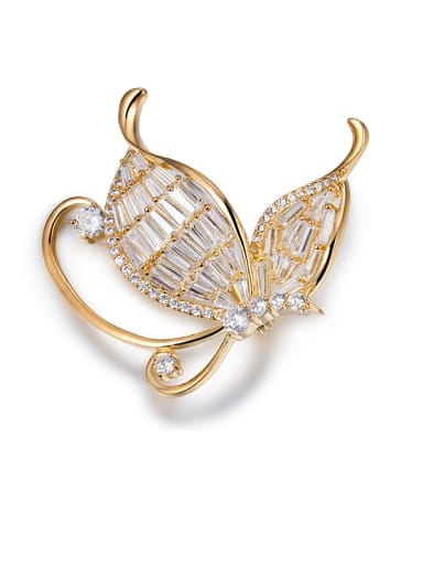 18K Gold Plated Butterfly Brooch