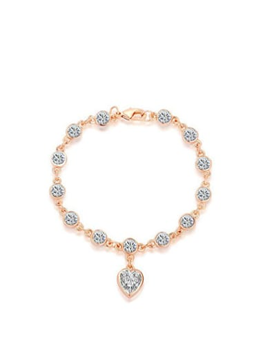 Elegant Heart Shaped Austria Crystal Bracelet