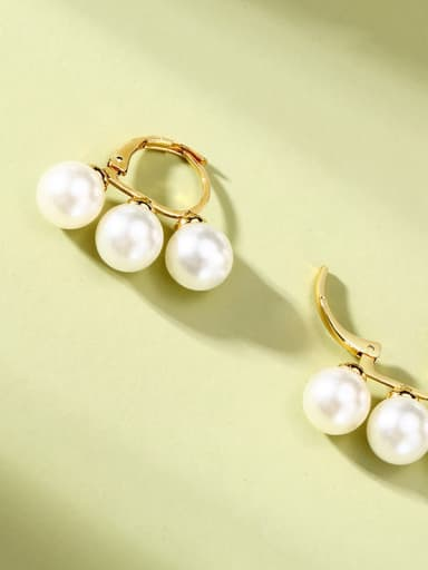 Stainless Steel With Imitation pearl classic Earrings
