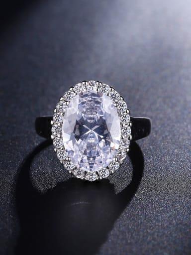 Shining  Oval Zircon Wedding Engagement Ring