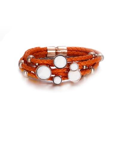 Fashion Titanium Round Buckle  Bracelet