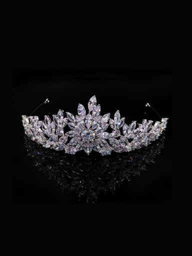 Luxury Zircons Crown Shaped Noble Wedding Hair Accessories