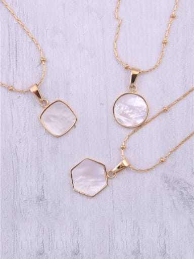 Titanium With Gold Plated Simplistic Geometric Necklaces