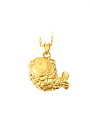 Ethnic style Fish Gold Plated Pendant