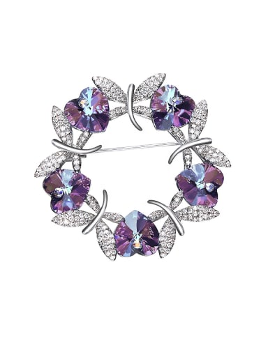Butterfly Shaped Crystal Brooch