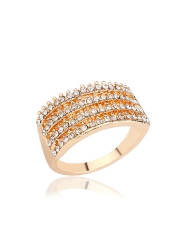 Fashion White Crystals Alloy Ring