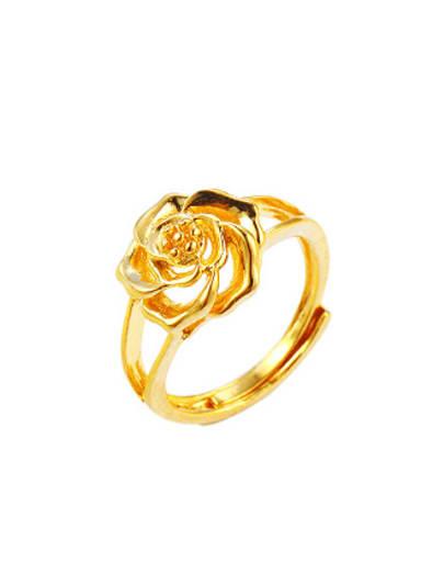 Retro style Flowery Opening Ring