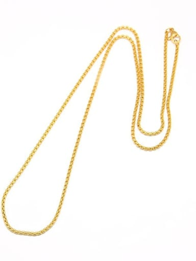 Stainless Steel With gold plated Trendy BOX Chain