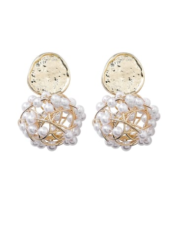 Alloy With Gold Plated Fashion Hollow Round Drop Earrings