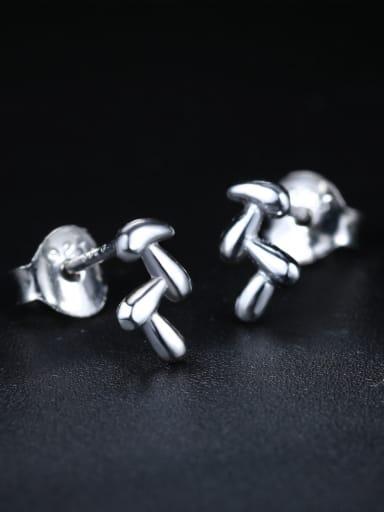 Simple Tiny Leaves 925 Sterling Silver Stud Earrings