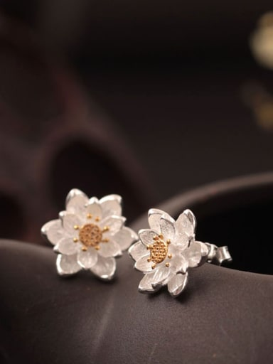 Flower Double Color stud Earring