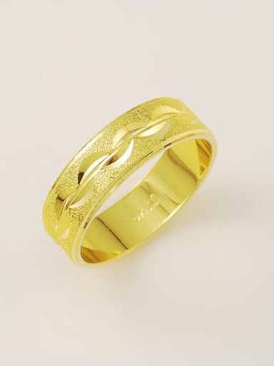 Men Fashionable 24K Gold Plated Geometric Copper Ring