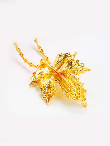 Personalized Gold Plated Leaf Pendant