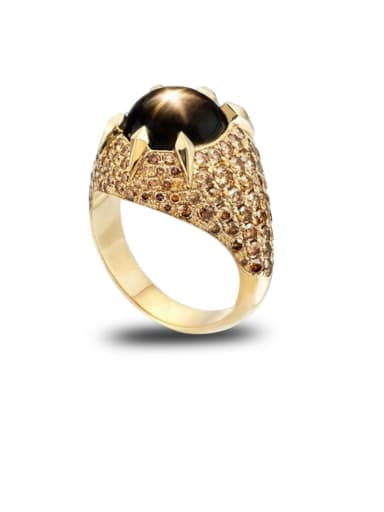 Copper With Gold Plated Luxury Round Band Rings