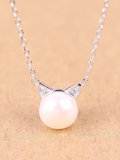 2018 Fashion Freshwater Pearl Silver Necklace