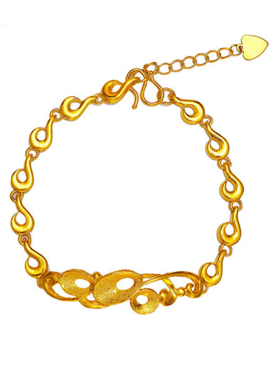 Copper 24K Gold Plated Classsical  Bracelet