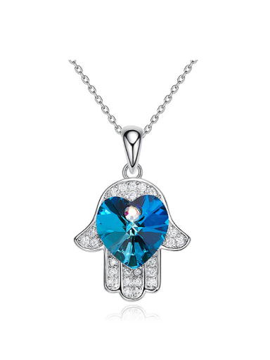 Fashion Little God's Hand Swarovski Crystals 925 Silver Pendant
