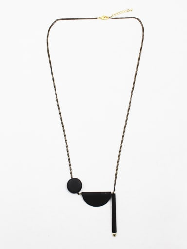 All-match Adjustable Eraser Beads Sweater Necklace