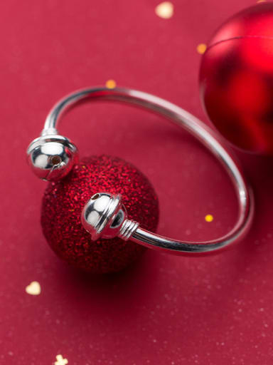 925 Sterling Silver With Silver Plated Cute Bell Bracelets
