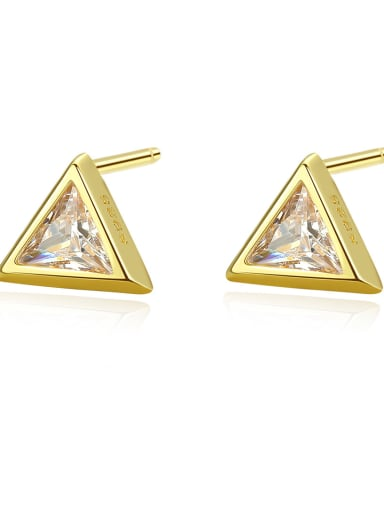 925 Sterling Silver  Simplistic Triangle Stud Earrings