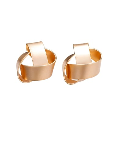 Alloy With Rose Gold Plated Simplistic Geometric Stud Earrings