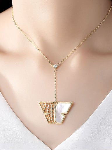 Copper With Gold Plated Simplistic Hollow Geometric Necklaces