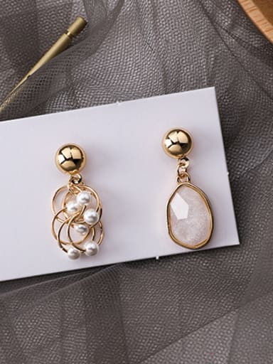 Alloy With Champagne Gold Plated Fashion Geometric Drop Earrings