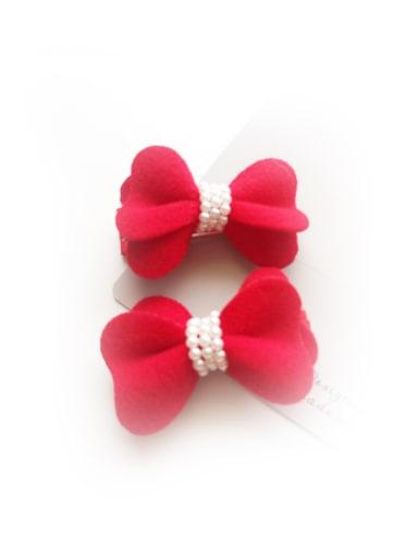 Red Woolen Hair Accessories
