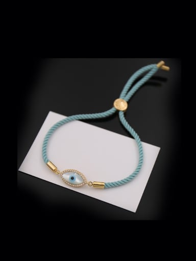 Eye Shaped Copper Sterecth Bracelet