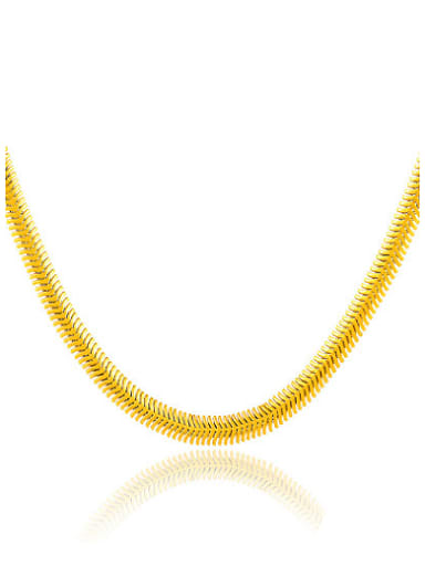 Trendy 24K Gold Plated Geometric Shaped Necklace