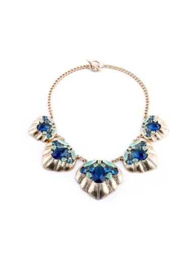 Exaggerate Geometric Stones Women Necklace