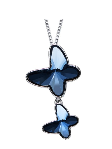 2018 2018 2018 S925 Silver Butterfly-shaped Necklace