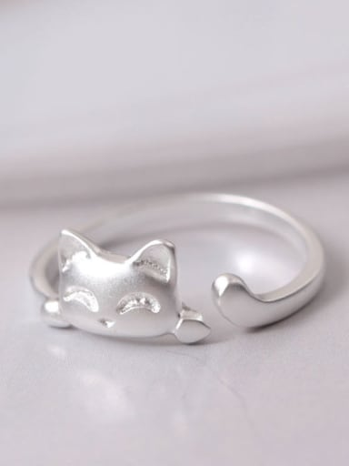 Fashion Lucky Cat Opening Ring