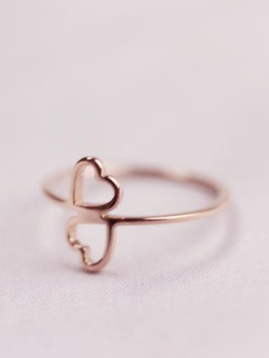 Sweetly Double Hollow Heart Ring