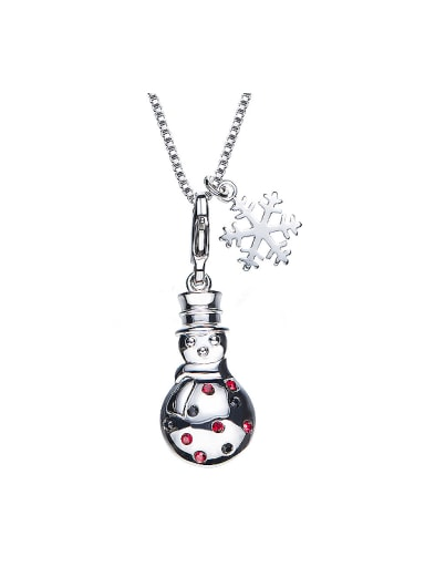 Snowman Shaped Crystals Necklace