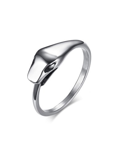 Unisex Fashionable Snake Shaped Stainless Steel Ring