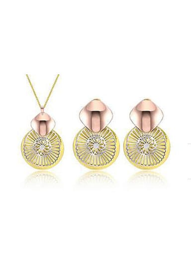 Ethnic style Gold Plated Two Pieces Jewelry Set