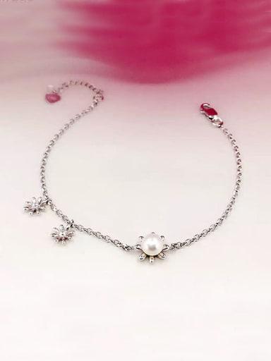 Simple Freshwater Pearl Flowers Bracelet