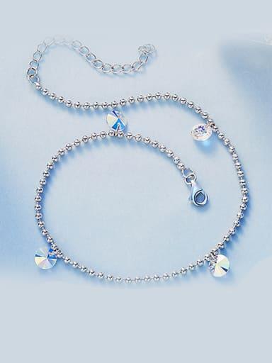 925 Silver Swarovski Crystal Anklet