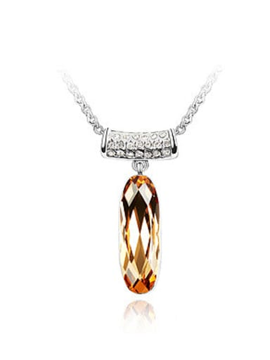 Simple T-shaped Pendant Swarovski Crystal Alloy Pendant