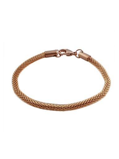 Personality Rose Gold Plated Geometric Titanium Bracelet